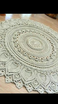 Emma throw made with caron simply soft peach Crochet Pouf, Knitted Pouf, Crochet Carpet, Crochet Mandala, Crochet Stitches Patterns, Doily Patterns, Crochet Doilies, Crochet Flowers, Tapete Doily