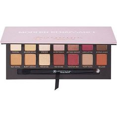 Anastasia Beverly Hills Modern Renaissance Eyeshadow Palette is an essential eyeshadow collection with fourteen shades, including neutral and berry tones.  Includes a double-ended shadow brush. Crease and fade resistant formula stays put for hours. Mirrored compact slides easily into your bag for on-the-go application.