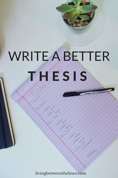 Write a Better Thesis There are five keys to a good thesis, and a good thesis is the foundation of a good paper!There are five keys to a good thesis, and a good thesis is the foundation of a good paper! Thesis Writing, Academic Writing, Teaching Writing, Essay Writing, Writing Papers, Writing Tips, English Writing, Science Writing, Dissertation Writing