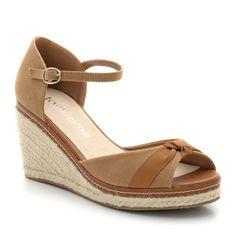 LA REDOUTE EN PLUS Canvas Sandals with 8 cm Wedge Heel   TAILLISSIME   La Redoute