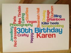 New to weheartcards on Etsy: Rainbow Personalised Custom Made Birthday Card 18th 21st 30th 40th 50th 60th 70th etc (9.95 GBP)