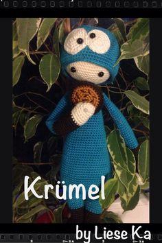 """Crochet pattern by Lalylala / Mod """"Krümel"""" made by Liese Ka"""