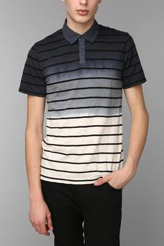Shirts For All My Friends Dip-Dye Stripe Polo Shirt #urbanoutfitters