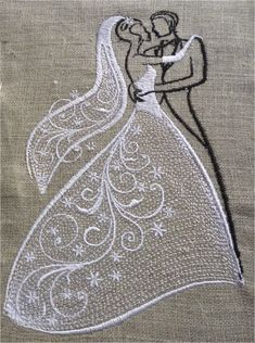 A couple of newlyweds for machine embroidery embroidery 5 x 7 frame. Size of the embroidery: 102.5 x 170.7 mm (4.04 x 6.72 ) 21657 points. format machine: PES, HUS, EXP, DST, JEF, VP3, VIP. On the request of a client I adds 4 x 4 format (see picture 3) Size of the embroidery: 60 x 99.9 mm