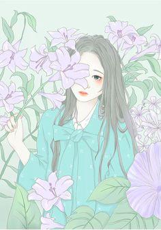 Ghim ca hecate fernandes trn couple trong 2019 anime flower. Anime Art Girl, Manga Art, Aesthetic Art, Aesthetic Anime, Animes Wallpapers, Cute Wallpapers, Anime Flower, Korean Art, Beautiful Anime Girl