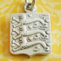 Vintage Georg Jensen Denmark Lion Shield Sterling Silver Charm from A Genuine Find