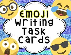 Motivate your students with these fun emoji writing prompts!  This set contains a total of 35 task cards and four different recording sheets.  The cards are differentiated! There are 19 cards with 6 emoji per card, 16 cards with 3 emoji per card. The recording sheets have both full and half sheet options an give the students the opportunity to draw their 6 or 3 emoji that they are using!