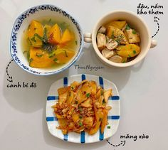 Helathy Food, Happy Cook, Vegetarian Recipes, Cooking Recipes, Vietnamese Recipes, Daily Meals, Banquet, Clean Eating, Curry