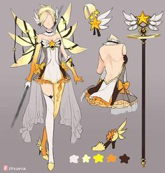 overwatch shourca mercy magic girl Mercy overwatch magic girl ShourcaYou can find Magical girl outfit and more on our website Magical Girl, Girl Inspiration, Character Inspiration, Anime Outfits, Girl Outfits, Yellow Outfits, Character Concept, Character Art, Overwatch Skin Concepts