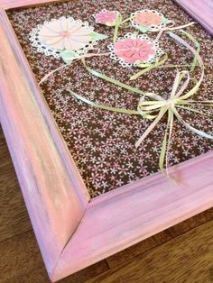 Shabby Chic Pink Wooden Frame Wall Decor  by FrancandAllies, $25.00