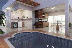 Modern House Facades, Modern Architecture, Build Your Own House, Facade House, House Plans, New Homes, Loft, House Design, Patio