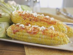 Trishas southern comfort potluck food network grits casserole in the husk corn on the cob recipe trisha yearwood food network forumfinder Image collections