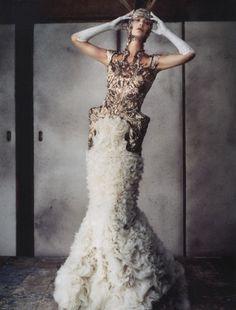 Carolyn Murphy wearing Alexander McQueen Spring/Summer 2012 by Daniele + Iango for I-DMagazineSpring 2012