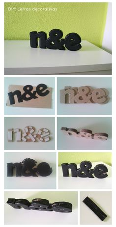 Cómo hacer letras decorativas con cartón : x4duros.com. How to make decorative letters out of cardboard