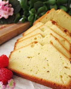 Ingredients  1 cup butter, softened  3 cups sugar  6 eggs  1 teaspoon lemon extract  1 teaspoon vanilla extract  3 cups all-purpose flour  1 cup heavy whipping cream  Sliced fresh fruit, optional    Directions    In a large bowl, cream butter and sugar. Add eggs, one at a