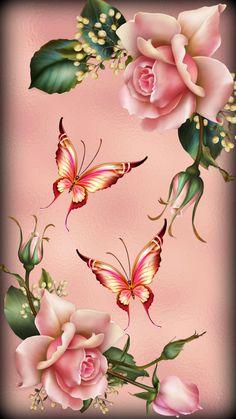 Pink Roses – Graffiti World Floral Wallpaper Iphone, Flower Background Wallpaper, Sunflower Wallpaper, Butterfly Wallpaper, Rose Wallpaper, Butterfly Art, Flower Backgrounds, Colorful Wallpaper, Cellphone Wallpaper