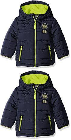 Osh Kosh Boys' Infant Classic Heavyweight Solid Puffer Coat, Navy, 24 Months