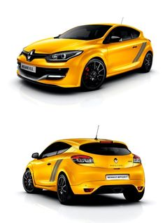 Renault Megane RS (yellow-color) Νew 2016 Megane 3, Automotive Photography, Top Cars, Amazing Cars, Honda Civic, Fast Cars, Sport Cars, Cars And Motorcycles, Luxury Cars