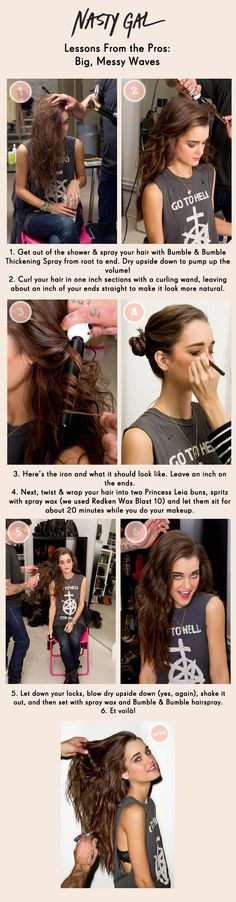 Tutoriels de coiffure: Coiffures en désordre, # coiffures # cheveux # tutoriels # non ordonnés , Hair Day, New Hair, Trendy Hairstyles, Braided Hairstyles, Hair Inches, How To Curl Your Hair, Super Hair, Hair Hacks, Hair Tips