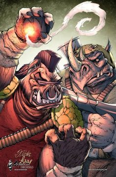 TMNT - Bebop and Rocksteady by Shelby Robertson