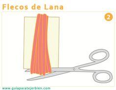 Guía Para Tejer Bien: Flecos de lana