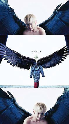 Bts Wings Album, Wings Albums, Jung Hoseok, V Wings, Wings Tour, Vs Angels, Most Handsome Men, V Taehyung, Bts Bangtan Boy
