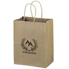 Eco-Mini Paper Bag (Ink) - Brown Kraft shoppers made from 100% recycled paper