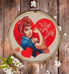 This is modern cross-stitch pattern of I Love Lucy for instant download. Nice and joyful picture to decorate your living space. You will get 7-pages PDF file, which includes: - main picture for your reference; - colorful scheme for cross-stitch; - list of DMC thread colors (instruction and key section); - list of calculated thread length The size of the picture is 6.93 X 7.50 (17.60 cm X 19.05 cm) - 120 X 120 stitches on Aida 14 count It is a digital pattern and will be available to…