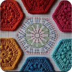 Hexagono crochet