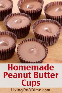 Homemade Peanut Butter Cups Recipe And Toffee Recipe - 25 of the Best Easy Christmas Candy Recipes And Tips – Living on a Dime To Grow Rich - Homemade Peanut Butter Cups, Homemade Candies, Chocolate Peanut Butter Cups, Homemade Candy Recipes, Homemade Recipe, Homemade Reeses Cups, Homeade Candy, Dipping Chocolate, Homemade Food Gifts