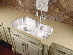 Artisan Double-Bowl 16 Gauge Stainless Steel Kitchen Sink