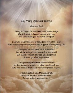 My Very Special Parents Sentimental Print Perfect For Framing Parents, Mom, Dad, In law, by MahoneyLane on Etsy Anniversary Wishes For Parents, Wedding Anniversary Quotes, Birthday Wishes For Mom, Anniversary Congratulations, In Loving Memory Quotes, Mom And Dad Quotes, I Miss You Dad, I Still Miss You, Grief Poems