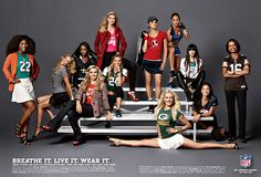 The NFL's ad campaign for their revamped women's apparel line #arysamerica https://apps.facebook.com/btfphotoday/