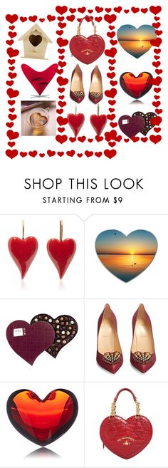 """10,000❤/10,000 TY's"" by pursue-happiness ❤ liked on Polyvore featuring Christian Louboutin, Baccarat, Vivienne Westwood and Vitra"