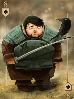 Samwell Tarly - The Cards of Ice and Fire by Everton Caetano, via Behance