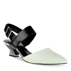 Pointed Kitten Heels - White - Heels - Shoes | CHARLES & KEITH