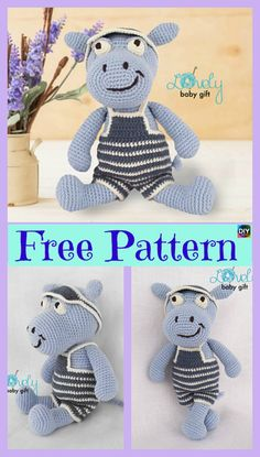 6 Crochet Amigurumi Animal Free Patterns