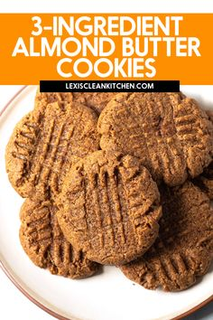 These chewy Almond Butter Cookies use only 3 ingredients you likely have in your home right now and are so addicting! The dough is made in 1-bowl, and ready in under 20 minutes. They are free from gluten, grains and refined sugar, but still perfectly delicious.