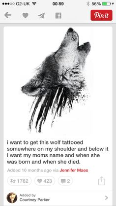 Wolfie tattoo! Gorgeous