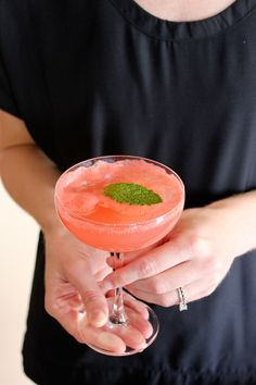 use #Delamotte Champagne or #ConoSur Brut Sparkling wine for this fabulous watermelon champagne cocktail!