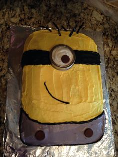 Despicable me cake Madi and I made for her 3rd Birthday!!!