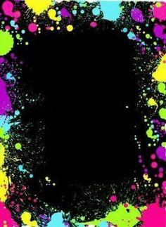 Resultado de imagen para fiesta de neon invitacion