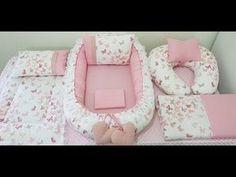 Baby Crib Diy, Baby Doll Bed, Baby Room Diy, Fun Diy Crafts, Baby Crafts, Baby Nest Pattern, Baby Dress Patterns, Baby Swings, Sewing Pillows
