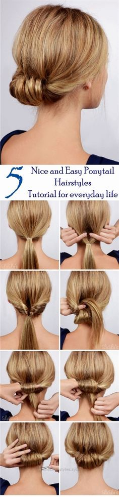 Splendid Looking for some nice and easy ponytail hairstyles idea?     We are here with five nice and easy ponytail hairstyles. Ponytails are casual  but if designed properly, it can be trendy as  ..