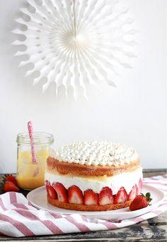 Erdbeer Mascarpone Torte #ichbacksmir #torte