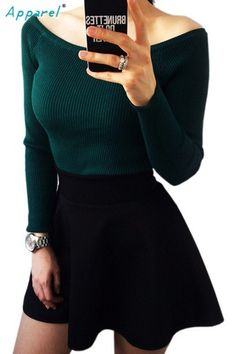 Women Sweater slit neckline Strapless