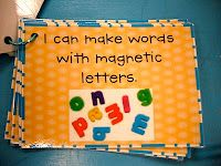 Would be great to use kids names, sight words. Take pictures of their names with magnets.