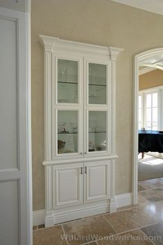 """Convert a small closet to bookcasing ... could even put """"hidden"""" storage behind the cabinet"""