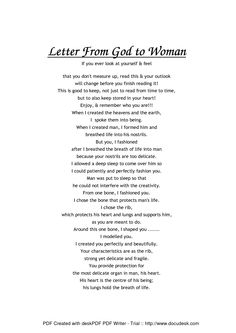 Love Letter From God His