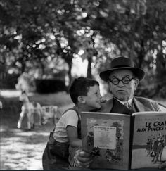 Le grand-père et son petit fils, 1952   •   Janine Niépce (1921–2007) was a French photographer. A cousin of Nicéphore Niépce, the pioneer of photography, she was born into a family of winemakers in Burgundy.